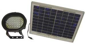 Solar electric flood light