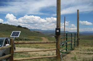 Solar electric gate