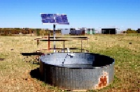 picture of a remote solar powered water pump